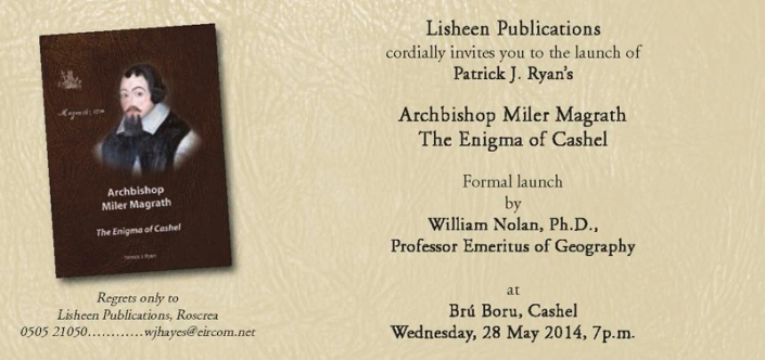 fb Invitation to Book Launch on Miler Magrath