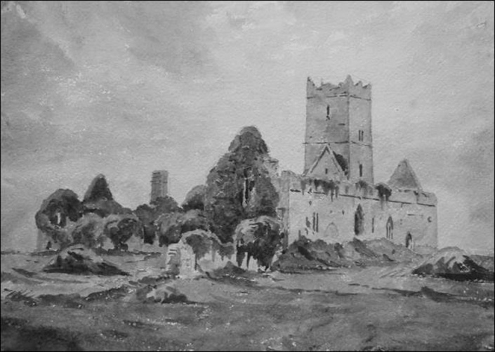 clare abbey BW